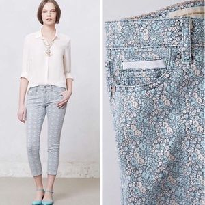NWT Anthropologie Pilcro Stet Floral Crop Jeans 27